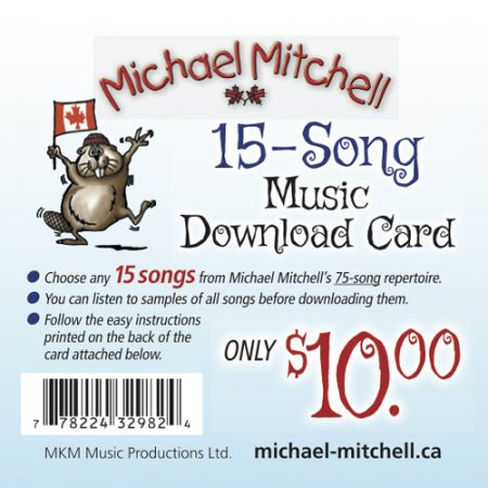 15-song Music Download Card